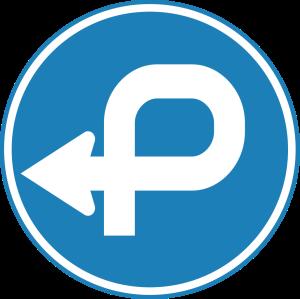 Korean traffic detour sign. Source: P.Ctnt via Wikimedia Commons.